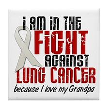 In The Fight 1 LC (Grandpa) Tile Coaster