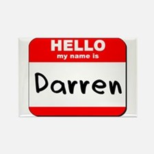 Hello my name is Darren Rectangle Magnet
