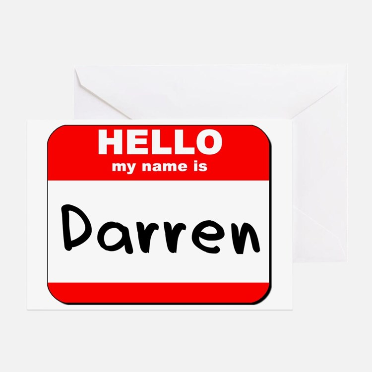 Hello my name is Darren Greeting Card