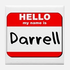 Hello my name is Darrell Tile Coaster