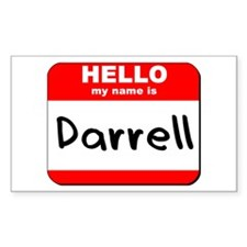 Hello my name is Darrell Rectangle Decal