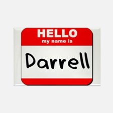 Hello my name is Darrell Rectangle Magnet