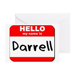Hello my name is Darrell Greeting Card