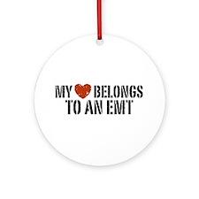My Heart Belongs to an EMT Ornament (Round)