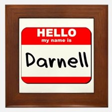 Hello my name is Darnell Framed Tile