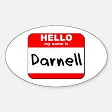 Hello my name is Darnell Oval Decal