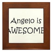 Cute Angelo Framed Tile