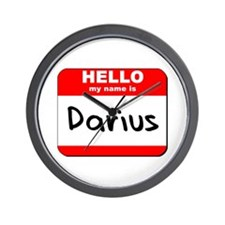 Hello my name is Darius Wall Clock