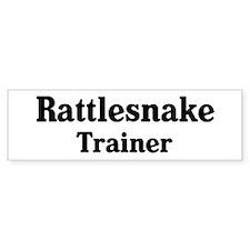 Rattlesnake trainer Bumper Bumper Sticker