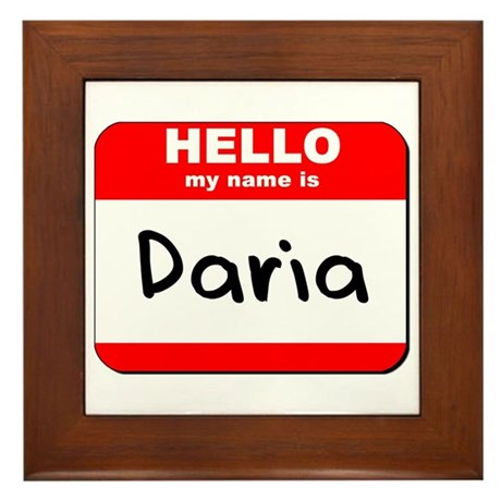 Hello my name is Daria Framed Tile