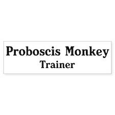 Proboscis Monkey trainer Bumper Bumper Sticker