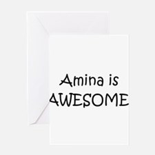 Cute Amina Greeting Card