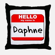 Hello my name is Daphne Throw Pillow