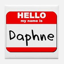 Hello my name is Daphne Tile Coaster