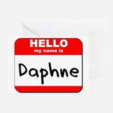 Hello my name is Daphne Greeting Card