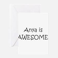 Unique Anya Greeting Card