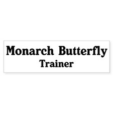 Monarch Butterfly trainer Bumper Car Sticker