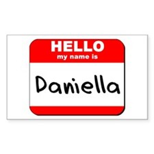 Hello my name is Daniella Rectangle Decal