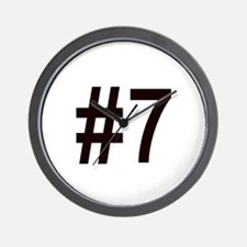 #7 birth order baby number seven Wall Clock