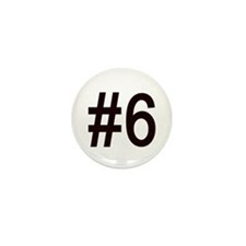 #6 birth order baby number six Mini Button (10 pac