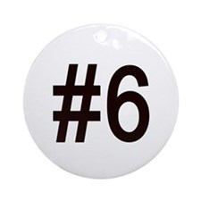 #6 birth order baby number six Ornament (Round)