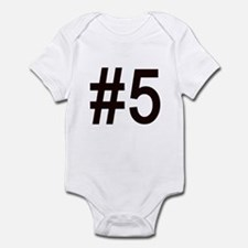 #5 birth order baby number five Infant Bodysuit