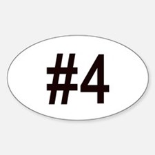 #4 birth order baby number four Oval Decal
