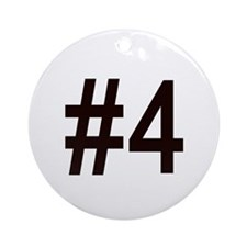 #4 birth order baby number four Ornament (Round)