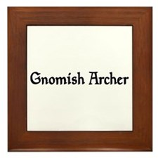 Gnomish Archer Framed Tile