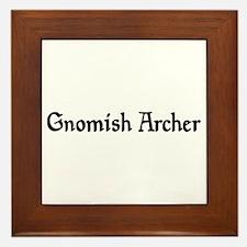 Gnomish Archer Framed Tile