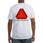 Slow Moving Vehicle Sign - Fitted T-Shirt