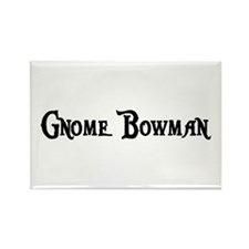 Gnome Bowman Rectangle Magnet