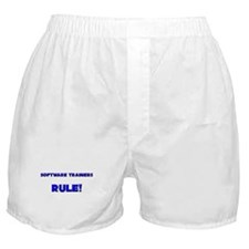 Software Trainers Rule! Boxer Shorts