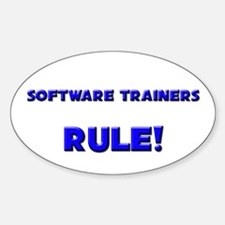 Software Trainers Rule! Oval Decal