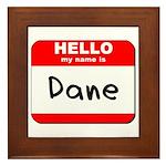Hello my name is Dane Framed Tile