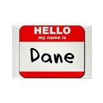 Hello my name is Dane Rectangle Magnet