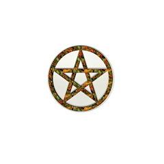 Festive Pentagram Pumpkin Mini Button (100 pack)