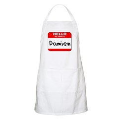 Hello my name is Damien BBQ Apron
