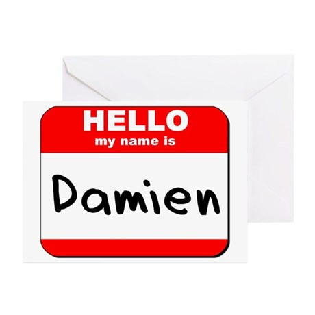 Hello my name is Damien Greeting Cards (Pk of 20)