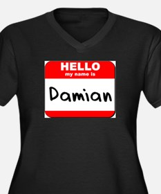 Hello my name is Damian Women's Plus Size V-Neck D