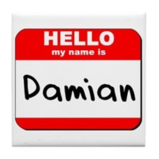 Hello my name is Damian Tile Coaster