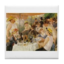 Luncheon of the Boating Party, 1881 Tile Coaster