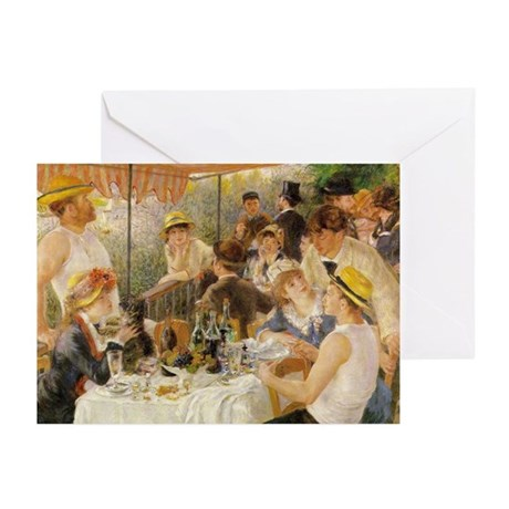Luncheon of the Boating Party, 1881 Greeting Cards
