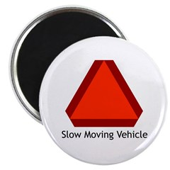 Slow Moving Vehicle Sign - Magnet