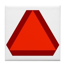 Slow Moving Vehicle Sign - Tile Coaster