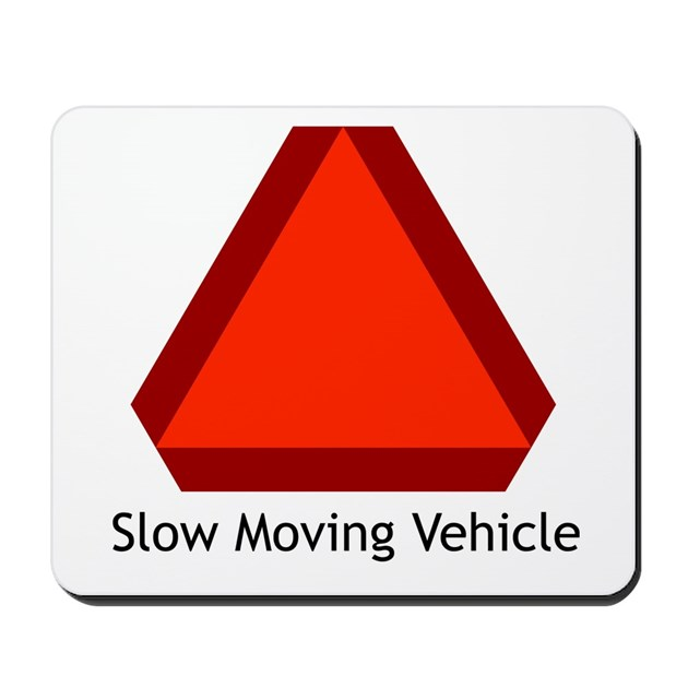 Slow Moving Vehicle Sign Mousepad By Simplesignshop