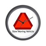 Slow Moving Vehicle Sign - Wall Clock