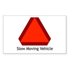 Slow Moving Vehicle Sign - Rectangle Decal