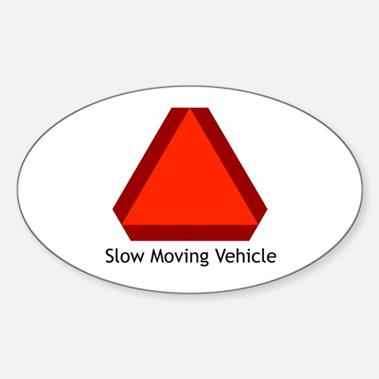 Slow Moving Vehicle Sign - Oval Decal
