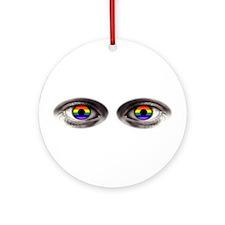 gay eyes Ornament (Round)